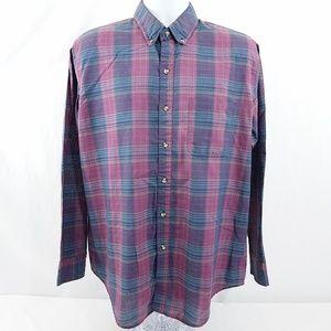 Mcgregor Classic Mens Sz Large Casual Button Shirt